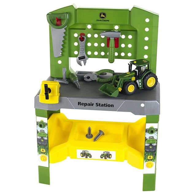 JOHN DEERE WORKSHOP REPAIR STATION WITH TRACTOR TOY  photo