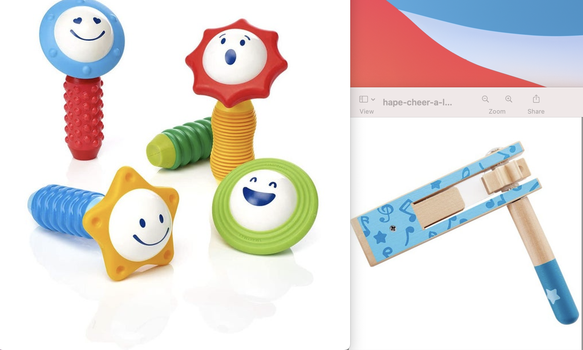 INFANT NOISEMAKER AND MY FIRST SOUND AND SENSES